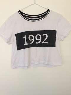cropped 1992 shirt