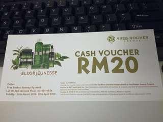 LAST DAY! Yves Rocher Voucher RM20