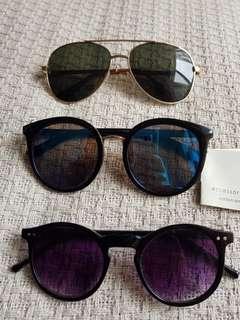 Sunglasses sale bundle deal eyewear summer sunnies round aviators bumble bee huge statement sunglasses