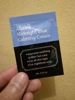 KLAIRS MIDNIGHT BLUE CALMING CREAM SAMPLE