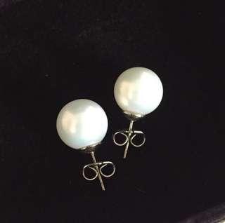 Fancy White Pearl Earrings