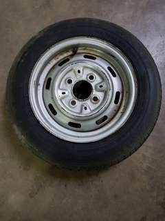 Vintage Morris Mini Spare Tyre with 12 Inches Rim!