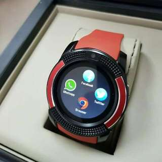 V8 SMART WATCH Red Limited