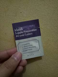 KLAIRS SUPPKE PREPARATION ALL OVER LOTION SAMPLE