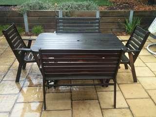 Jarrah Outdoor Table Setting