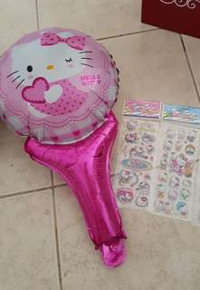 Hello Kitty Stickers & Handheld Balloon | Goodie Bag Packaging