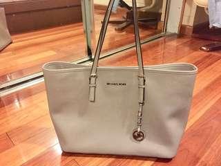 Michael Kors Tote Bag Grey Saffiano Leather
