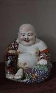 Buddha 小粉彩罗汉弥勒佛像