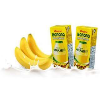 [HALAL] Binggrae Banana Milk 1 ROW pack of six 6 x 200ml