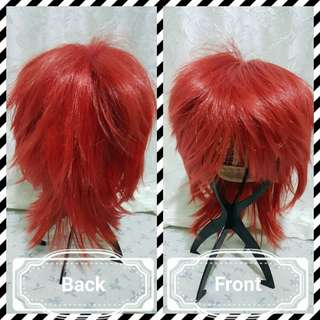 red male wig