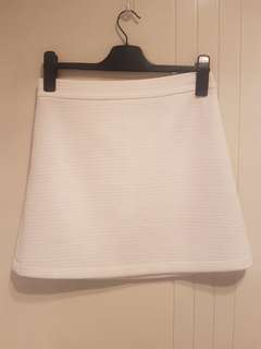 Sportsgirl White Textured Mini Skirt Size S