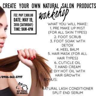 Create Your Own Natural Salon Products