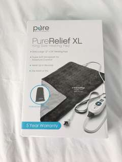 PureReliefXLKing Size Heating Pad 110volts