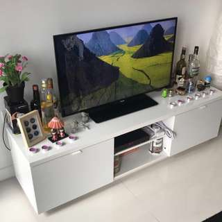ALMOST NEW - Ikea TV Bench For Sale - Fully Assembled