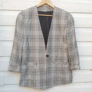 Perfect Vintage Plaid Blazer