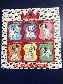 包郵 靚靚靚 要講3次 1997 迪士尼郵票 101斑點狗小版張