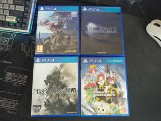 WTS PS4 Games(MHW/FFXV/NIER/DIGIMON)