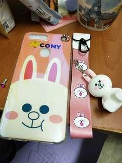 🚚 OPPO R11s 手機殼 兔兔 手機架 藍光殼