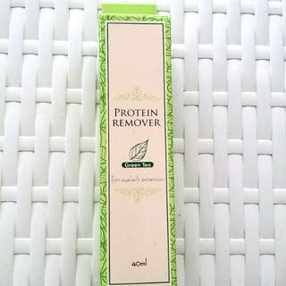 Eyelash extension protein remover