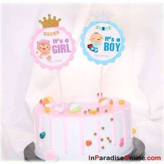 Cute Baby Birthday Cake Toppers