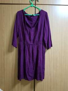 Green and purple dress
