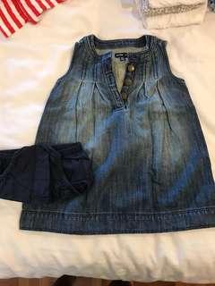 Carter's denim dress + panty 12-18mths #garagesaleclementi