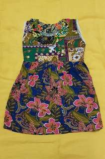 Batik Dress 1-2yrs old