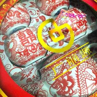 龍鳳陶瓷茶具套裝