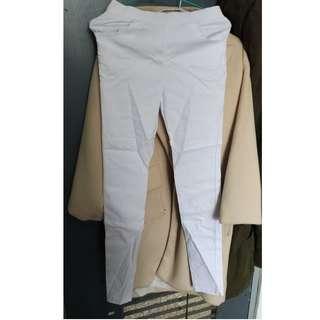刷毛皮褲、白褲、排釦褲