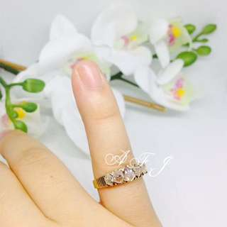Antique Gold Ring With Intan