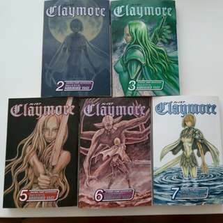 [Shonen Jump] Claymore ENG manga Vol 2, 3, 5, 6, 7