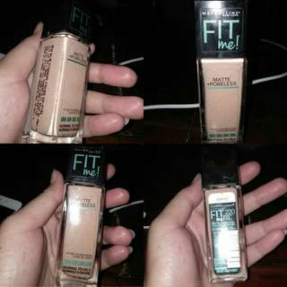 Foundation Maybelline fit me matte porelles