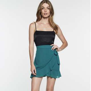 BNWT Green Wrap Bardot Skirt