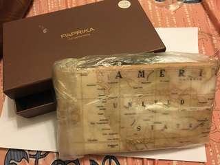 Paprika 小袋子/化妝袋 全新未用過 地圖袋