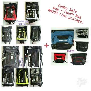 Combo Sale Taichi Pouch Bag  & Bagpack