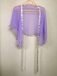 芭蕾舞短紗裙 淺紫色