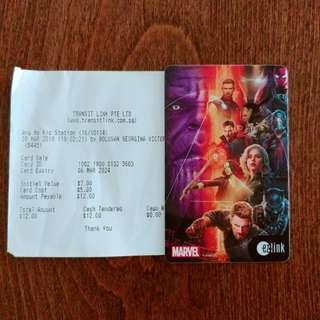 Avengers Infinity War Ezlink ez link card