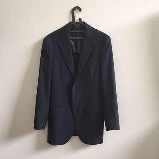 MURAH LIKE NEW Blazer Biru Navy Gelap Size M-L