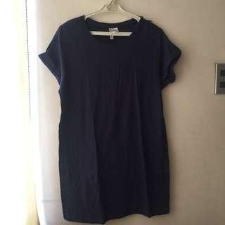 H&M shirt dress dark blue