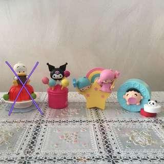 7-11系列-Sanrio Hello Kitty & Friends Little Twin Stars, Kuromi, Minna no tabo大口仔魔鬼天使小盒子雜物收納盒裝飾小擺設