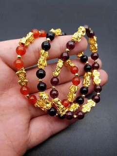 黃金貔貅手鏈-6只金貔貅 3色可選