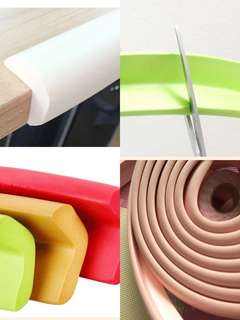 🌈(Ready Stock)💯Brand New In Pack Eco-friendly Spongy Type Long Bumper Furniture Baby Safety Table Edge Protector - 2 Meter (Comes with 4m adhesive tape)
