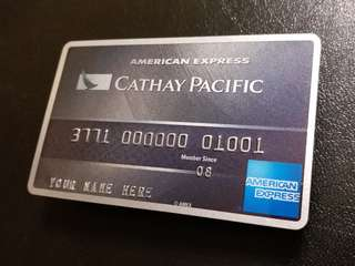 AE Cathay Pacific Card - Sample