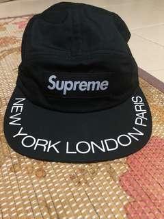 Supreme visor print camp cap (Black)