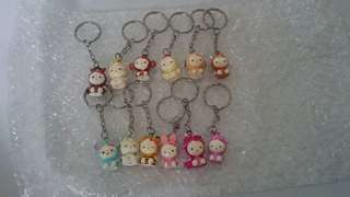 Vintage Collectible 12 Zodiac Hello Kitty Keychains