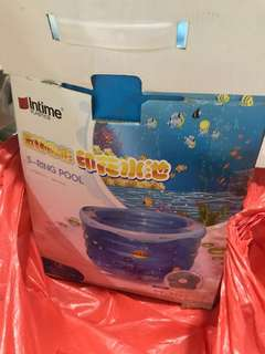 5 Ring Swimming Baby Pool w pump and neck float