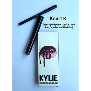 (Used Once) Kylie Lip Kit Kourt K