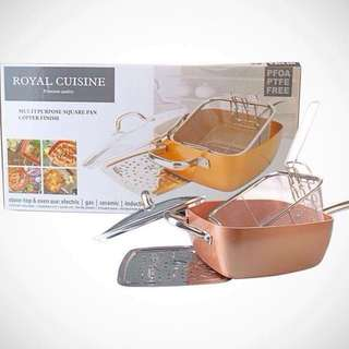 Copper Pan Square Pan 4pc Cookware Kitchenware
