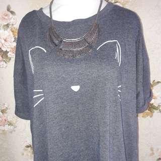 Grey Cat Top Ld.120