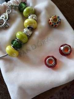 Pandora style bracelet with charms